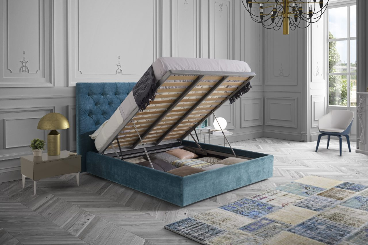 Capitonne bed